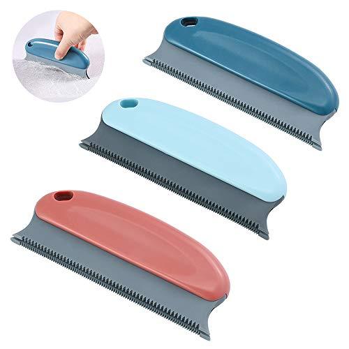 SITAKE - Paquete de 3 cepillos removedores de pelo para perros y gatos, cepillo profesional para eliminar el pelo de mascotas, peine para limpiar la cama, ropa, alfombra, sofá y asiento de coche