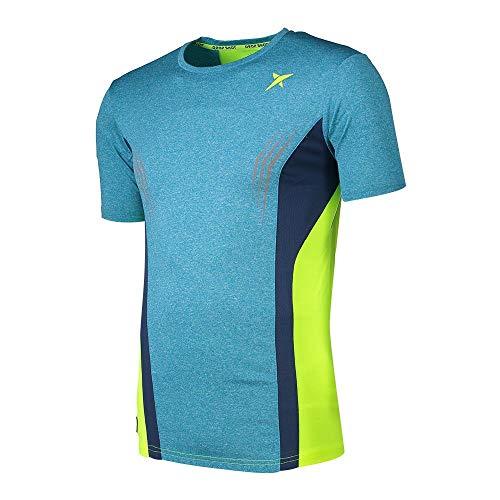 DROP SHOT Versus Camiseta Técnica de Tenis, Hombre, Azul, M
