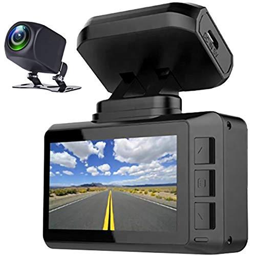 LPWCAWL Dual Dash CAM, Dashcam Cámara 4K WiFi con GPS y Pantalla IPS, Gran Angular De 170°, Sensor-G, Monitor De Aparcamiento, Grabación En Bucle, Mini Cámara De Coche para Delanteros y Traseros