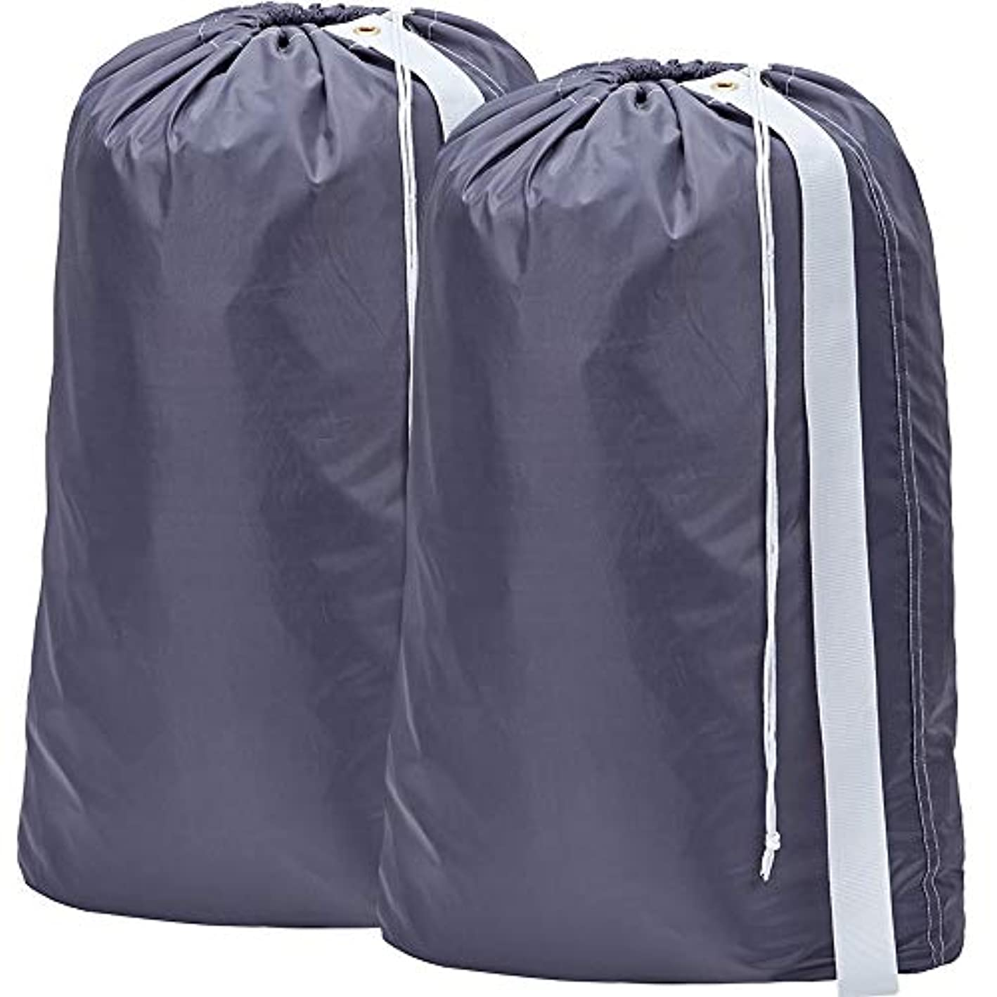 HOMEST 2 Pack Nylon Laundry Bag with Strap, 28