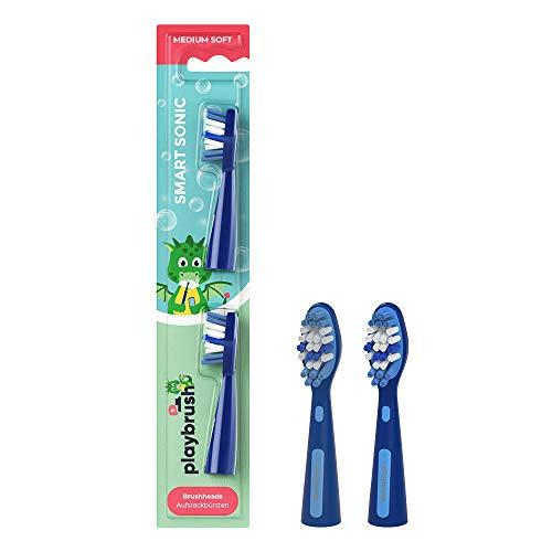 Playbrush Ultra Soft - 2 cabezales de repuesto para cepillo de dientes...