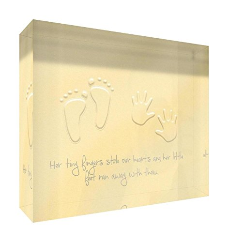 Feel Good Art Jeton en acrylique poli diamant 7,5 x 10,5 x 2 cm Petit papillon Jaune Her Little Feet volé nos cœurs