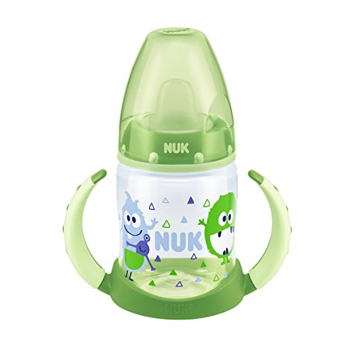 NUK 10215232 First Choice Trinklernflasche, TPE-Trinktülle, ab 6 Monate, 150 ml, grün