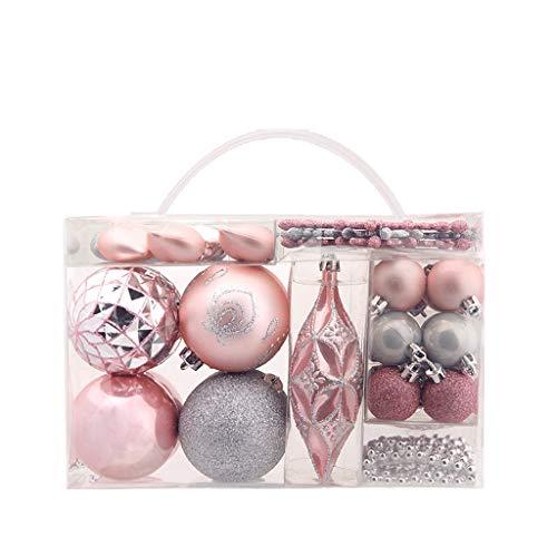 HXF- クリスマスの装飾オーナメントパッケージギフトバッグクリスマスボールギフトを形50シルバーパウダー 楽しげ (Color : Pink, Size : 29*16*18CM)