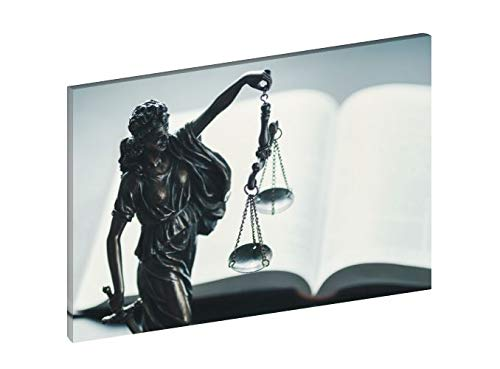 QUADRO SU TELA IN HD 70 X 50 CM TEMA GIUSTIZIA DEA ROMANA LA LEGGE E UGUALE PER TUTTI ARREDO STUDIO UFFICIO