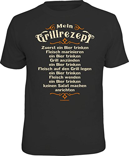 Männer Geschenk T-Shirt für BBQ Grill-Fans: Mein Grillrezept
