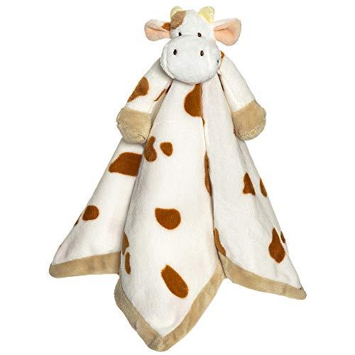 """Teddykompaniet 13723 Schmusetuch """"Diinglisar"""" Baby Kuh, gefleckt – Schmusedecke 35x35 cm – Stofftier-Schnuffeltuch - Kuscheltier - super soft - ab Geburt"""