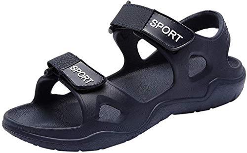 LCFF Chanclas Pisos for Hombre Sandalias de Playa Piscina de Verano Sandalias Casuales Zapatos atléticos de los Deportes de Deslizamiento no for el Exterior (Color : Blue, Size : UK8-43 EU)