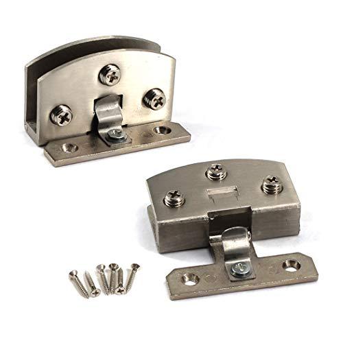 Kit de bisagras de cristal de 90 grados para puerta de cristal de aleación de zinc para ducha, abrazadera de cristal, 2 piezas con tornillos, cristal adaptable de 8 a 10 mm