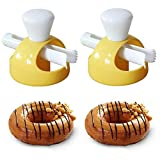 2 PCS Cortador Donuts, Molde para rosquillas, Galletas para rosquillas, Molde para Hornear Pasteles, Herramienta de Bricolaje para Hacer Rosquillas en el Hogar o Restaurante