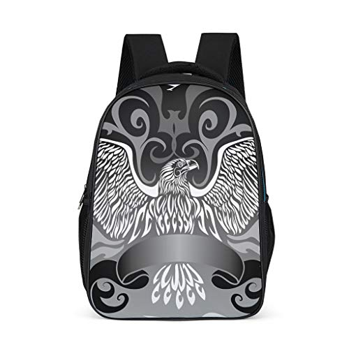 Cyliyuanye Cool Eagle Durable Kids' Backpack School Book Bag For kids Adults Gift For Boys Girls bright gray onesize