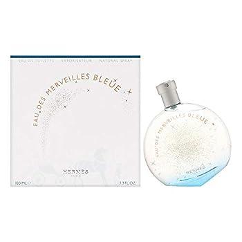 Hermes Eau Des Merveilles Bleue Eau De Toilette Spray 3.3 Fl Oz