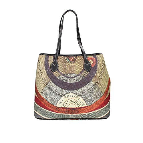 Gattinoni Borsa donna Shopping misura Large Stampa Planetarium BEGPL6434WPQP26 Medium PVC+leather Classic/Black