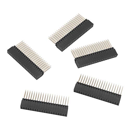 Xpccj 5pcs Stacking Headers Heat Resistant Female Extra Tall for Raspberry Pi and Arduinos