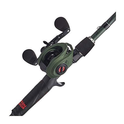 Abu Garcia Zata Baitcast Low Profile Reel and Fishing Rod Combo, 7' - Medium Heavy - 1pc, Green