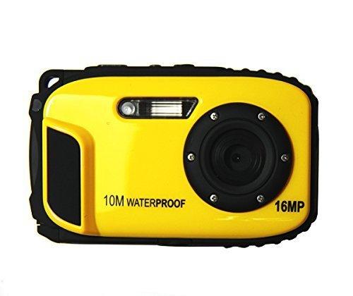 ETTG BP88 Camera Waterproof Digital Video Camera 2.7' TFT Screen 5mp Underwater 9 Mega 8X Zoom Digital Camera - Yellow