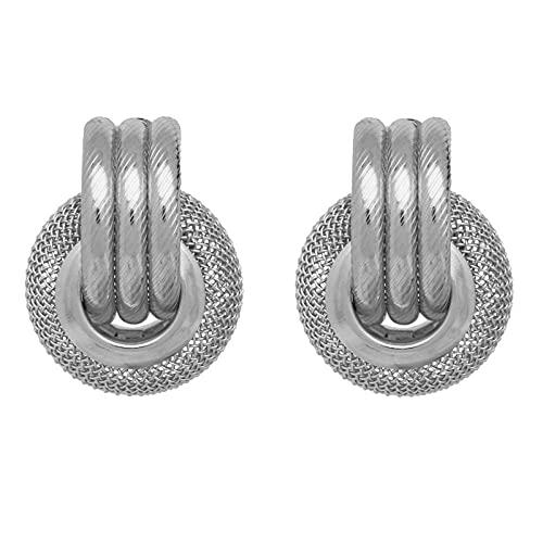 XAOQW Chica Pendientes Grandes Vintage geométrico Metal Dorado Arte Pendientes Colgantes Encantador Anillo Colgante-Ver Tabla