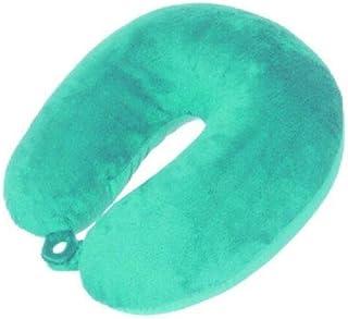 Oreiller de voyage pour le cou - Couleurs vives - Sensation de velours avec perles, turquoise (Turquoise) - KOO-9991749