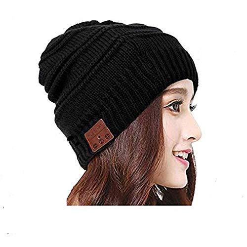 Mystery Bluetooth Bonnet Beanie, Connexion Bluetooth sans Fil Casque avec Micro Haut-parleurs Stéréo Lavable Bonnet Sans Fil pour Sports de Plein...