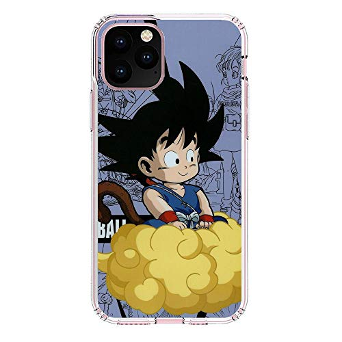 Fashionshot Transparent Slim Liquid Flexible Fundas Soft Case Back Cover for Apple iPhone 11 Pro MAX-Super Goku-DBZ Blue 7