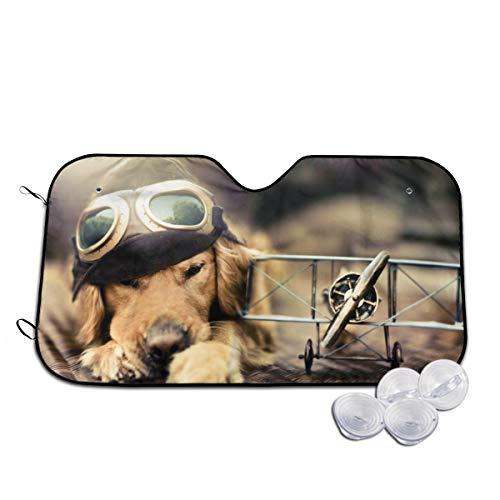 Rterss Puppy hond vliegtuig bril huisdier voorruit zon schaduw vizier voorruit glas voorkomen dat de auto van verwarming tot binnen aangepaste