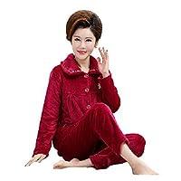 レディース パジャマ 冬用 上下セット スリープウェア 前開き 衿付き 長袖 あったか 部屋着 ネル起毛 ルームウェア 女性 パジャマ XXXXL カラー9