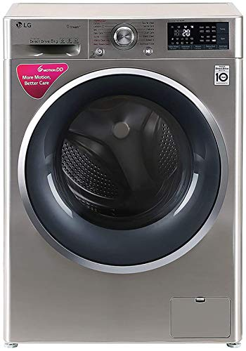 LG 8 kg Inverter Wi-Fi Fully-Automatic Front Loading Washing Machine (FHT1408SWS, STS-VCM, Inbuilt Heater)