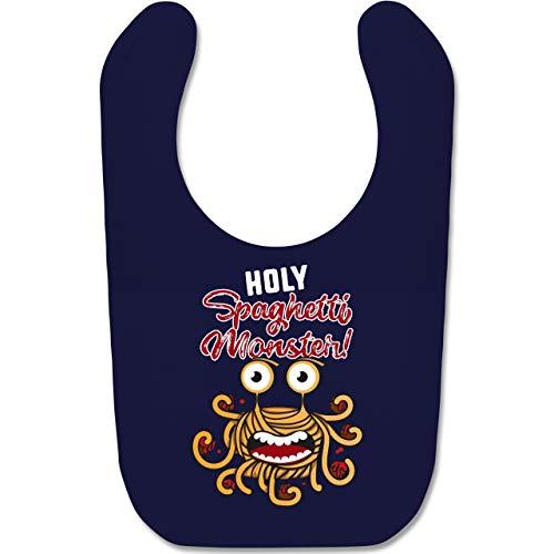 Shirtracer Up to Date Baby - Holy Spaghetti Monster! - Unisize - Navy Blau - spaghetti lätzchen - BZ12 - Baby Lätzchen Baumwolle