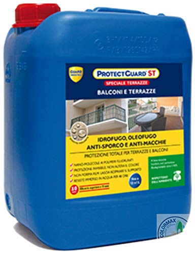 Protettivo IMPERMEABILIZZANTE per balconi e terrazze, idrofugo - oleofugo ed antimacchia - Protect Guard St 1 LT