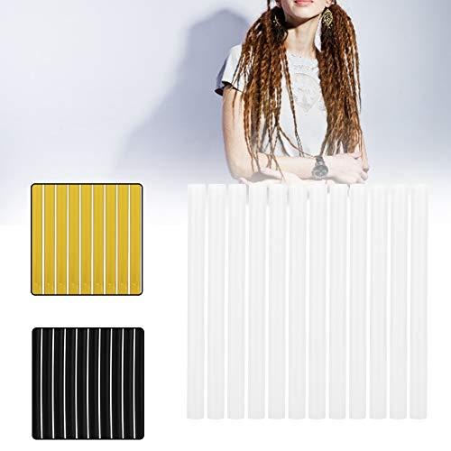 Set di 12 estensioni dei capelli professionali Cheratina Gun Bond Stick colla, estensione dei capelli parrucca Hot Melt Glue Stick adesivi Hair Styling Tool(Giallo)