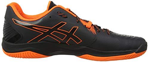 ASICS Herren Blast FF Handballschuhe, Schwarz (Black/Shocking Orange 001), 45 EU - 6