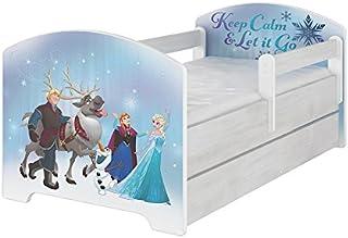 Original Disneys barnsäng med fallskydd och madrass