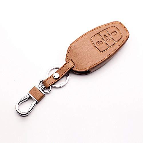 HAKFV Auto sleutel cover Auto sleutel cover Fit voor volkswagen vw touareg 3 knop smart key beschermen shell autosleutels accessoires Toetsenbord cover