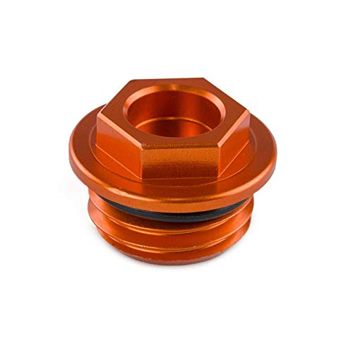 HANLING- CNC Öleinfüllstopfens Kappe for KTM 50 65 85 125 200 300 350 450 250 550 620 660 690 1290 SX SXF XC XCF EXC XCW Superduke LC4 SMC (Color : Orange)