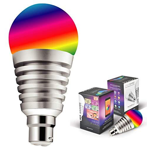 Mansaa SmartShine - Bluetooth Wireless Smart LED Bulb - (9W, B22, Silver Body)