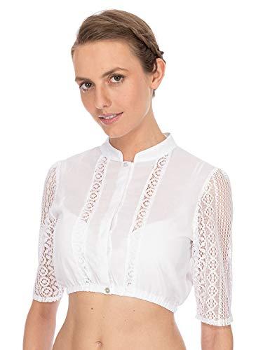 Stockerpoint Damen Bluse B-8065 Trachtenbluse, Weiß (Weiß Weiß), (Herstellergröße: 34)