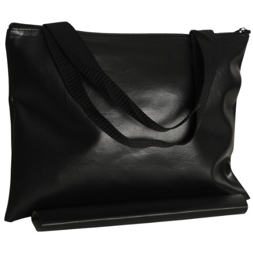 Wood Expressions WE Games Black Leatherette Chess Bag - 12 in.