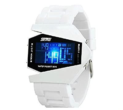 Women Men Multifunction Waterproof Military Digital LED Display Colorful Light Sports Silicone Watches