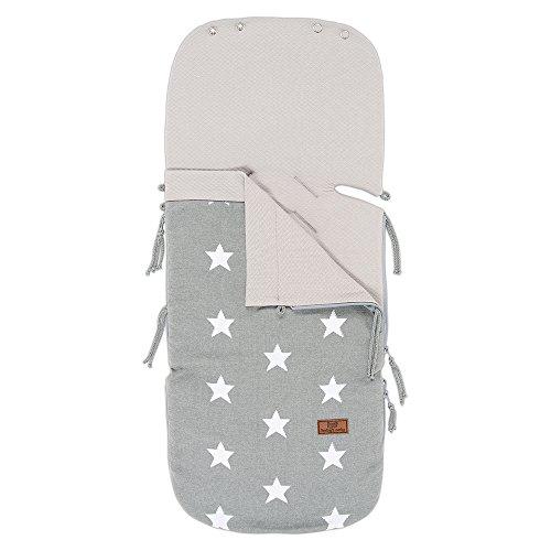 Baby's Only 911395 Sommer-Fußsack für Babyschale Sterne grau / weiß