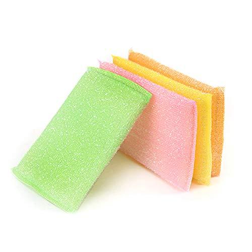 REATR 4 Piezas Esponjas de Limpieza Esponja limpiadora para Platos Esponjas Limpieza Multiusos Baños y Cocinas Fácil de Secar, para Platos, Ollas, Fregaderos, Hornos, Vidrio Scourers Sponges