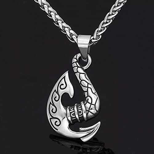 Collares de hombre Colgante de martillo de Thor collar de acero inoxidable hacha barco vikingo Vintage collar de martillo Hookz regalo de joyería Regalo para esposo padre novio regalo de cumpleaños