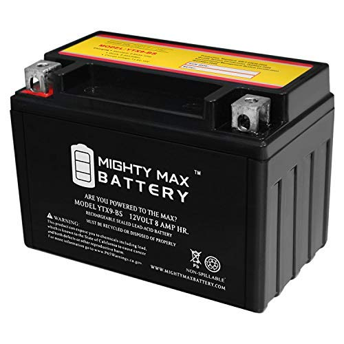 YTX9-BS - 12V 8AH 135 CCA - SLA Power Sport Battery - Mighty Max Battery Brand Product