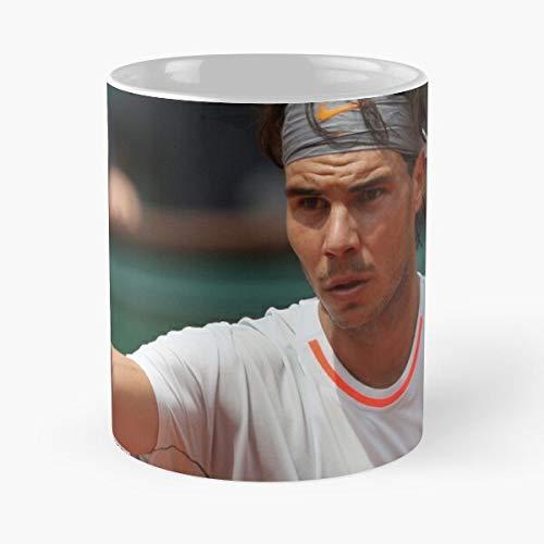 Orangeburps Action Daniel ATP Clay Championships Foximages Brands Ball Champion Taza de café con Leche 11 oz