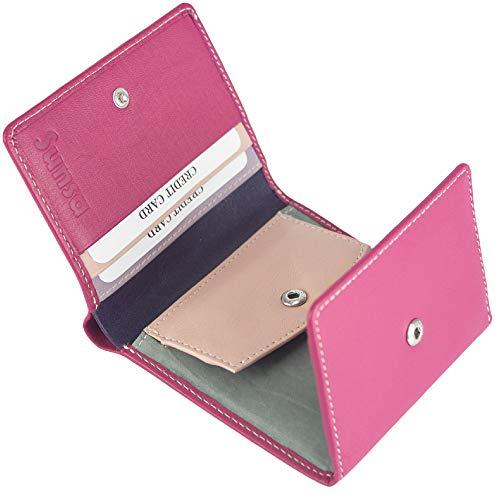 Sunsa Geldbörse für Damen Kleiner Leder Geldbeutel Portemonnaie mit RFID Schutz Brieftasche mit viele Kreditkarten Fächer Geldtasche Wallet Purses for Women das Beste Gift kleine Geschenk 81662