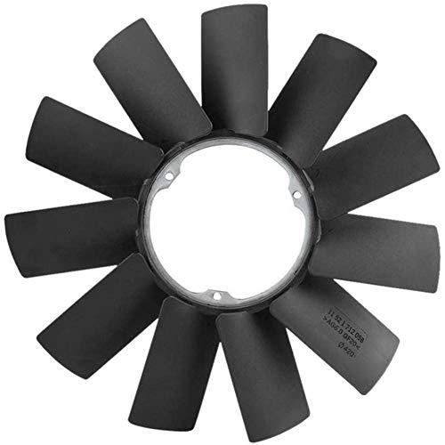 del Motor Radiador, refrigeración del Ventilador de la Hoja en Forma for el BMW Z3 E32 E34 E36 E39 E46 E53 11521712058 (Color : Black)