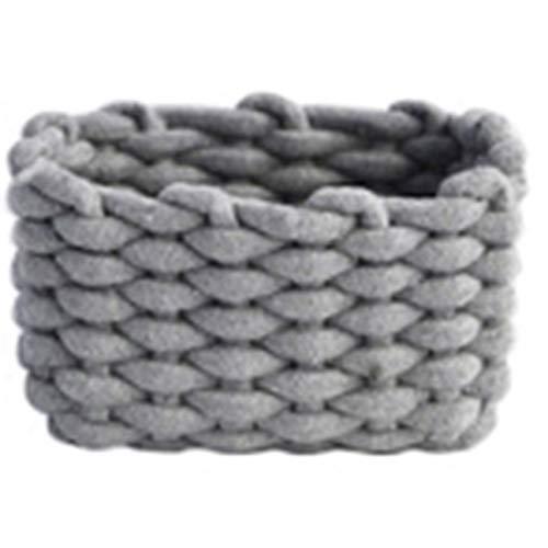 RETYLY H?keln Sie Handgewebte Baumwolle Seil blage Korb Baby Spielzeug blage Korb Desktop Kleine Organisator BO Multifunktionale Dekorative Korb