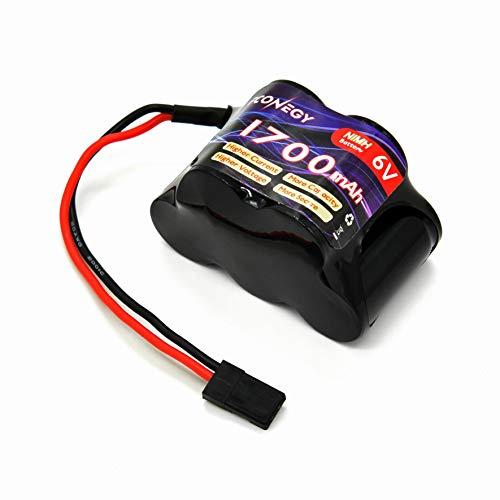 FCONEGY Pack de batería receptor de 6 V 1700 mAh NiMH RX con conector Futaba BBL2, mando a distancia para cuadricóptero RC RC Car Quadcopter FPV UAV