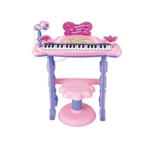 Digitale piano Children's Keyboard Toy Beginner Girl Multifunctionele Playing Piano Toy Microfoon Terwijl spelen en zingen 3-6 jaar oud met microfoon (Kleur: Roze) (Color : Pink)