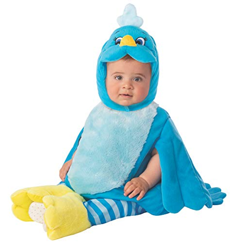 Arca de Noe - Disfraz Pájaro infantil, color azul, Talla 1-2 años (Rubie's 700940-T)