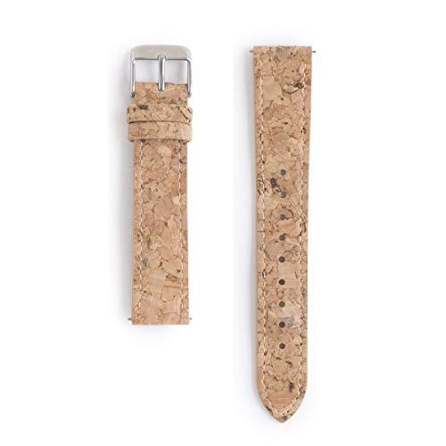 Correa de Reloj de Corcho de 18mm | Función Intercambiable | Vegana y sintética | Corcho Reciclado | Eco Friendly
